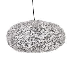 Prickig lampskärm i tyg oval i mönstret Storm från Afroart