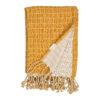 Rutig muslinfilt i ekologisk bomull Grid Ochre senapsgul från Fabelab