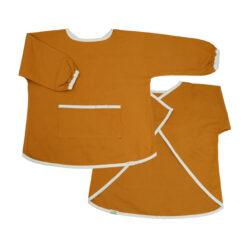 Målarförkläde i ekologisk bomull från Fabelab Chambray Ochre senapsgul