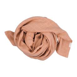Muslinfilt, swaddle eller babyfilt i ekologisk bomull från Fabelab Old rose aprikos rosa