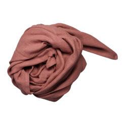 Muslinfilt, swaddle eller babyfilt i ekologisk bomull från Fabelab Clay hallonröd rosa