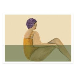 """Poster med badande kvinnor och damer """"Badhus"""" av Kajsa Hagelin eller Kajsa Visual"""