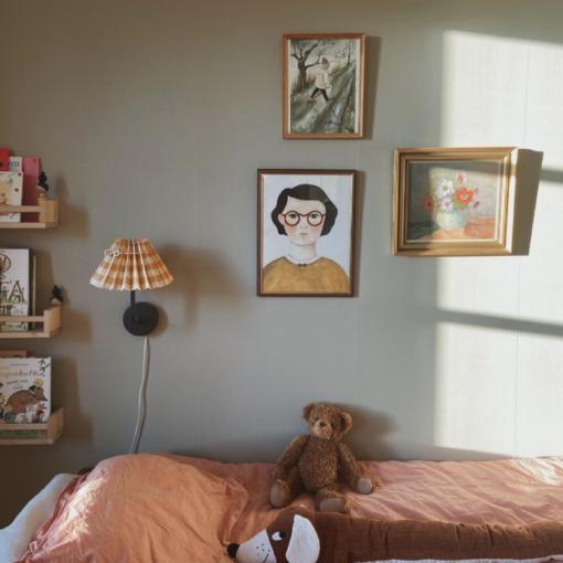 Poster med flickan solros av Kajsa Visual eller Kajsa Hagelin