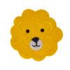 Sittdyna för barn i tovad ull med lejon från Afroart