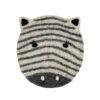 Sittdyna för barn i tovad ull med zebra från Afroart