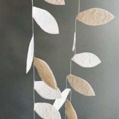 Girland Nature med blad i papper från Afroart