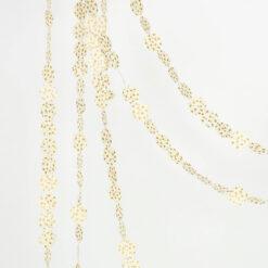 Girland jul Slinga i vitt och guld från Afroart